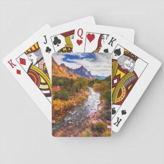 Zion National Park Autumn Splendor Playing Cards