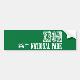 Zion National Park Bumper Sticker