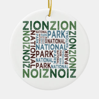 Zion National Park Ceramic Ornament