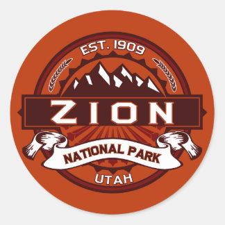 Zion National Park Crimson Round Sticker