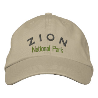 Zion National Park Embroidered Hat