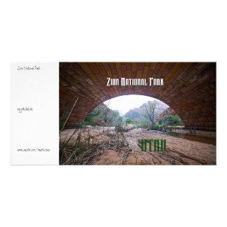 Zion National Park - Keystone Bridge Photo Greeting Card