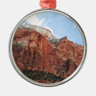 zion national park metal ornament