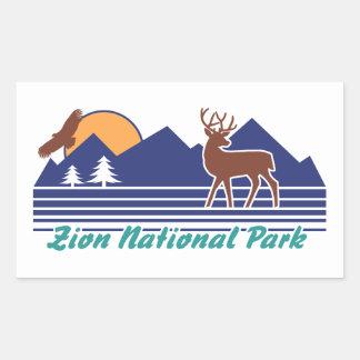 Zion National Park Rectangular Sticker