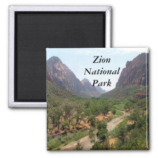 Zion National Park Square Magnet