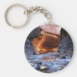 Zion National Park, The Narrows Keychain Basic Round Button Keychain