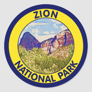 Zion National Park, Utah Classic Round Sticker