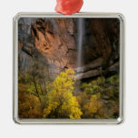 Zion National Park, Utah. USA. Ephemeral Silver-Colored Square Decoration