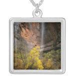 Zion National Park, Utah. USA. Ephemeral Square Pendant Necklace