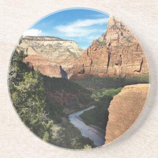 Zion National Park Utah Virgin River Drink Coasters