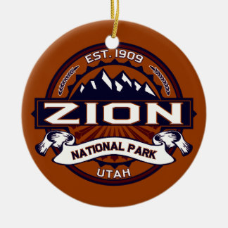 Zion Vibrant Ceramic Ornament