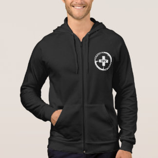 Zip Hoodie - Logo front, Mission back