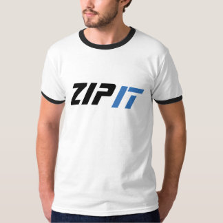 zip it funny t-shirt design