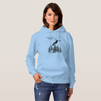 Zip Line Hoodie Blue Travel Ladies Sweatshirt