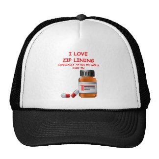 zip lining hats