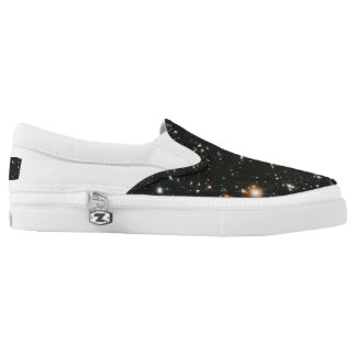 Zip thru the universe with these bodacious chucks printed shoes