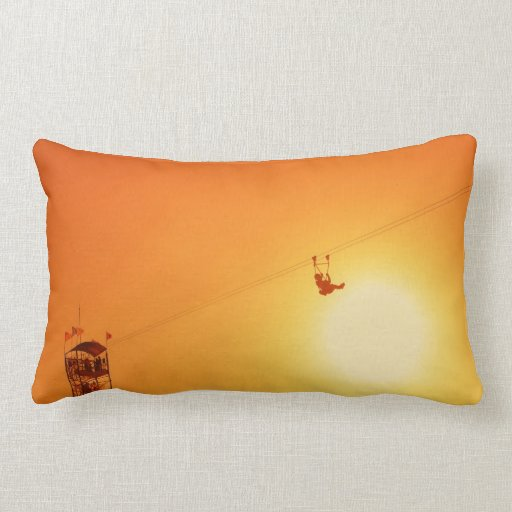 zipline throw pillow