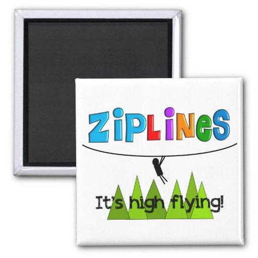 ZipLine Lovers Gifts Refrigerator Magnet