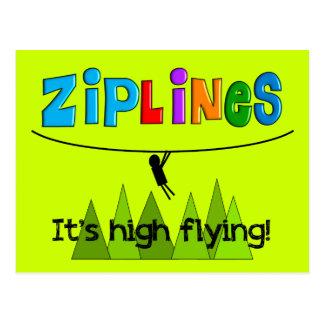 ZipLine Lovers Gifts Postcard