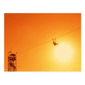 zipline postcard