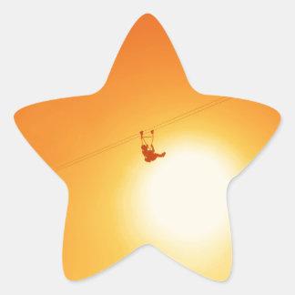 zipline star sticker