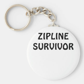 Zipline Survivor Basic Round Button Key Ring