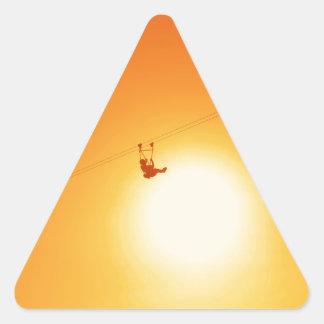 zipline triangle sticker