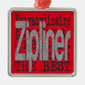 Zipliner Extraordinaire Metal Ornament