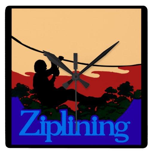 Ziplining! Wallclocks