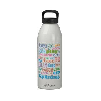 Ziplining Gift Idea Reusable Water Bottle