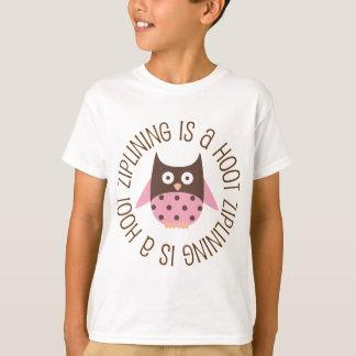 Ziplining Is A Hoot Owl T-Shirt