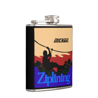 Ziplining Personalized Flask