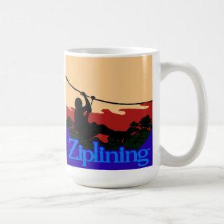 Ziplining-Skyrider Basic White Mug