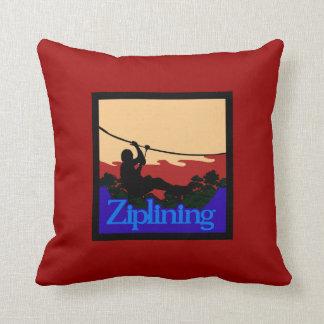Ziplining-Skyrider Throw Pillow