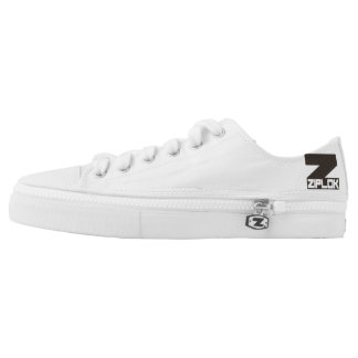 Ziplok - Black/White Logo Low-Cut Zipz Sneakers