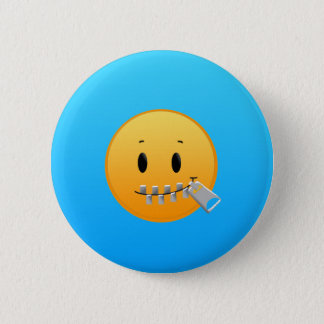 Zipper Emoji 6 Cm Round Badge