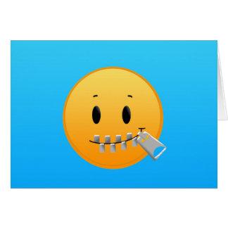 Zipper Emoji Card