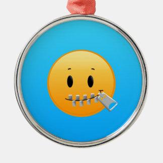 Zipper Emoji Metal Ornament