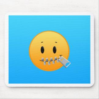 Zipper Emoji Mouse Pad