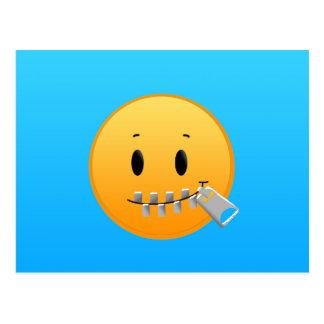 Zipper Emoji Postcard