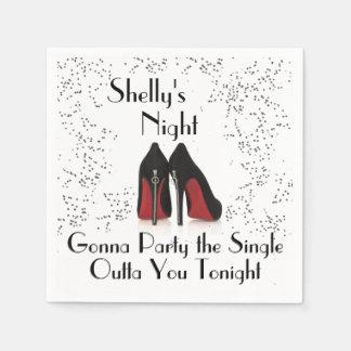 Zipper Heels Bachelorette Party Single Out Napkins Paper Napkin
