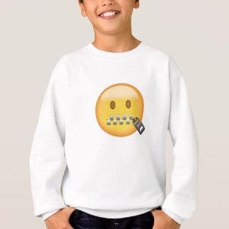Zipper-Mouth Face Emoji Sweatshirt