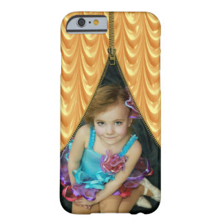 Zipper Photo Template Gold Curtain Barely There iPhone 6 Case