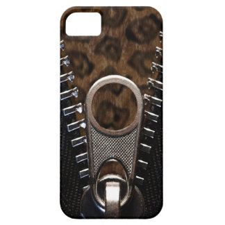 Zippered Leopard Print Fur Case For The iPhone 5