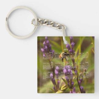 Zippy Bee; 2013 Calendar Single-Sided Square Acrylic Key Ring
