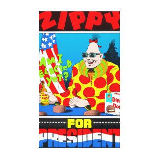 Zippy For President Canvas Canvas Print