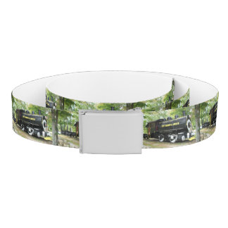 Zippy Train Reversible Canvas Belt
