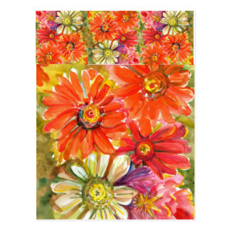 Zippy Zinnias Postcard