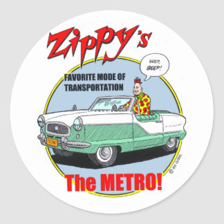Zippy's Metro Classic Round Sticker