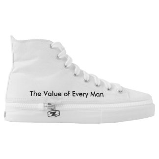 Zips High Top Shoes_for women&men_inspire Printed Shoes